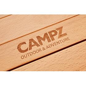 CAMPZ Mesa Enrollable Madera Haya 90x60x53cm, brown